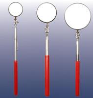 Ullman 3pc Telescoping Inspection Mirror Set Red Grip 1-2-3 in. Diameter USA