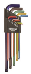 Bondhus 13 pc ColorGaurd XL SAE Standard Inch Hex L Wrench Set .05-3/8 USA 69637