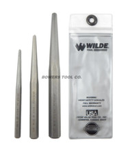 Wilde Tool 3pc Center Pin Punch Set 1/4, 3/8, and 1/2 Stock Sizes MADE IN USA