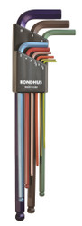 Bondhus 9 pc ColorGaurd XL Metric Hex L Wrench Set 1.5 - 10 mm MADE IN USA 69699