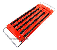 "Mechanics Time Saver 5 Row Lock-A-Socket Tray Set 1/4, 3/8 & 1/2"" Drive"