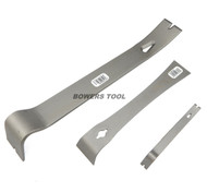 Enderes Tool 3pc Pry Bar Set Construction Tack Nail & Staple Puller Made in USA