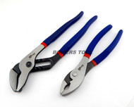 Pro America 10in. Tongue & Groove and 8in Slip Joint Plier Set Angle Nose USA