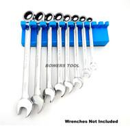 Mechanic Time Saver 10 Slot Magnetic Wrench Rack Holder Caddy Metric MTS USA