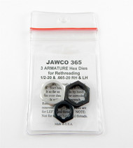 Jawco #365 Armature Hex Die Set Thread Restore 3pc 1/2-20 & .655-20 Made in USA