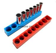Mechanics Time Saver 1/2 Drive Magnetic Socket Holder Tray Metric SAE USA