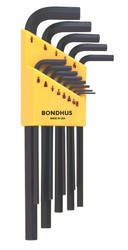Bondhus 13 pc SAE Standard Inch Hex L Wrench Set .050 - 3/8in MADE IN USA 12137