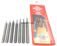Grace 7pc Short Steel Roll Pin Punch Set with Pouch Made in USA