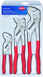 "Knipex 3pc Plier Wrench Set 002006US2 7"" 10"" 12"" Adjustable Pliers Spanners"