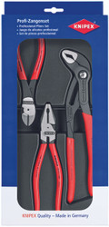 Knipex 3pc Plier Set 002010 Lineman Combination Diagonal Cutter Cobra Water Pump