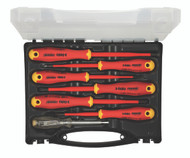 Felo 7pc VDE Insulated Electricians Screwdriver Set Ergonic Cushion Grip E-slim