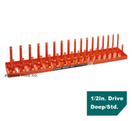 "Hansen Global 1/2"" Drive Socket Tray Holder Metric MM Standard Deep USA Orange"