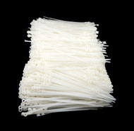 "Mounting Hole Zip Cable Ties 8"" 50lbs 1000pc Natural White #10 Screw Mount USA"