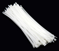 "Zip Cable Ties 14"" 120lbs 100pc Natural White Made in USA Nylon Wire Tie Wraps"