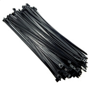 "Zip Cable Ties 14"" 120lbs 100pc UV Black Made in USA Nylon Wire Tie Wraps"