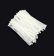 """Zip Cable Ties 5"""" 40lbs 100pc Natural White Made in USA Nylon Wire Tie Wraps"""