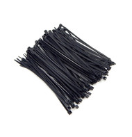 """Zip Cable Ties 5"""" 40lbs 100pc UV Black Made in USA Nylon Wire Tie Wraps"""