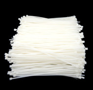 """Zip Cable Ties 8"""" 40lbs 1000pc Natural White Made in USA Nylon Wire Tie Wraps"""