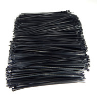 """Zip Cable Ties 8"""" 40lbs 1000pc UV Black Made in USA Nylon Wire Tie Wraps"""