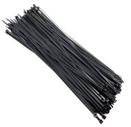 """Zip Cable Ties 14"""" 50lbs 100pc UV Black Made in USA Nylon Wire Tie Wraps"""
