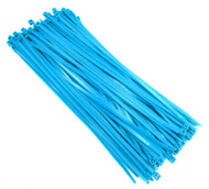 "Zip Cable Ties 11"" 50lbs 100pc FLUORESCENT BLUE USA Made Nylon Wire Tie Wraps"