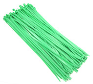 "Zip Cable Ties 11"" 50lbs 100pc FLUORESCENT GREEN USA Made Nylon Wire Tie Wraps"