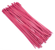 "Zip Cable Ties 11"" 50lbs 100pc FLUORESCENT PINK USA Made Nylon Wire Tie Wraps"