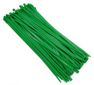 "Zip Cable Ties 11"" 50lbs 100pc GREEN Made in USA Nylon Wire Tie Wraps"