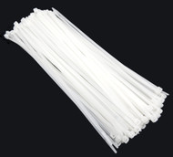 "Zip Cable Ties 11"" 50lbs 100pc Natural White Made in USA Nylon Wire Tie Wraps"