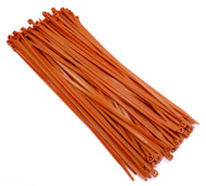 "Zip Cable Ties 11"" 50lbs 100pc ORANGE Made in USA Nylon Wire Tie Wraps"
