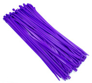 "Zip Cable Ties 11"" 50lbs 100pc PURPLE Made in USA Nylon Wire Tie Wraps"