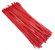 "Zip Cable Ties 11"" 50lbs 100pc RED Made in USA Nylon Wire Tie Wraps"