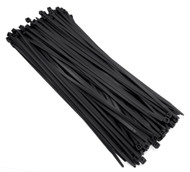 "Zip Cable Ties 11"" 50lbs 100pc UV Black Made in USA Nylon Wire Tie Wraps"