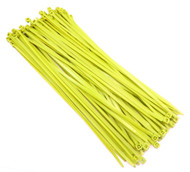 "Zip Cable Ties 11"" 50lbs 100pc YELLOW Made in USA Nylon Wire Tie Wraps"