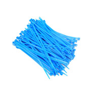 """Zip Cable Ties 4"""" 18lbs 100pc FLUORESCENT BLUE Made in USA Nylon Wire Tie Wraps"""