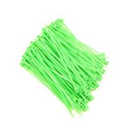 """Zip Cable Ties 4"""" 18lbs 100pc FLUORESCENT GREEN Made in USA Nylon Wire Tie Wrap"""