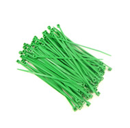 """Zip Cable Ties 4"""" 18lbs 100pc GREEN Made in USA Nylon Wire Tie Wraps"""