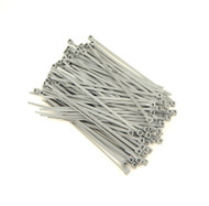 """Zip Cable Ties 4"""" 18lbs 100pc GRAY Made in USA Nylon Wire Tie Wraps"""