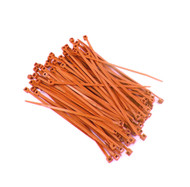 """Zip Cable Ties 4"""" 18lbs 100pc ORANGE Made in USA Nylon Wire Tie Wraps"""