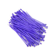 """Zip Cable Ties 4"""" 18lbs 100pc PURPLE Made in USA Nylon Wire Tie Wraps"""