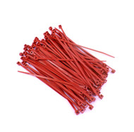 """Zip Cable Ties 4"""" 18lbs 100pc RED Made in USA Nylon Wire Tie Wraps"""