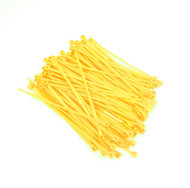 """Zip Cable Ties 4"""" 18lbs 100pc YELLOW Made in USA Nylon Wire Tie Wraps"""