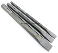 Wilde Tool 3pc 12in. Extra Long Cold Chisel Set 1/2 3/4 & 1 Cut Made in USA""