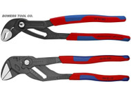 "Knipex 10"" Cobra & Adjustable Pliers Wrench Set Comfort Grip Handle Black Finish"
