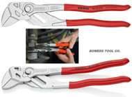 "Knipex 10"" Adjustable Pliers Wrench Set Straight and 15 Degree Angled Handles"