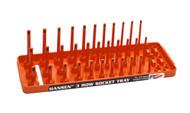 "Hansen (Orange) 1/4"" Socket Tray Organizer Holder 3 Row Standard SAE Shallow Deep Orange"