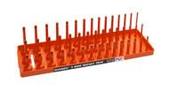 "Hansen (Orange) 3/8"" Socket Tray Organizer Holder Metric 3 Row MM Shallow Deep Orange"