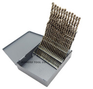 Cle Line 60pc COBALT M42 NUMBER Wire Gauge Drill Bit Set with Index #1-60 USA