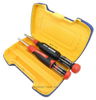 Megapro Ratcheting and Tamperproof Screwdrivers w Stainless Steel Shaft & Case