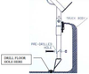 Installation diagram for the 3 Ladder Side-Mount Truck Rack